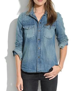 Madewell Western Jean Shirt