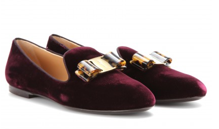 Salvatore Ferragamo  Scotty Velvet Loafers