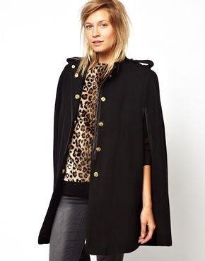 Mango  Wool Cape Coat