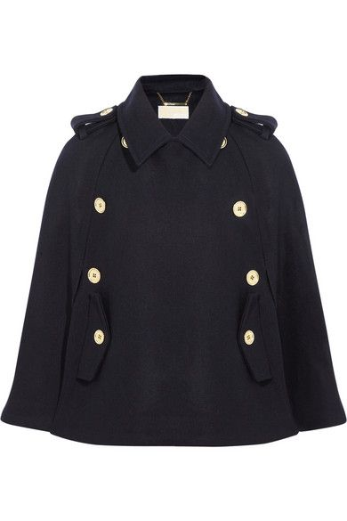 MICHAEL Michael Kors Felted Wool-Blend Melton Cape