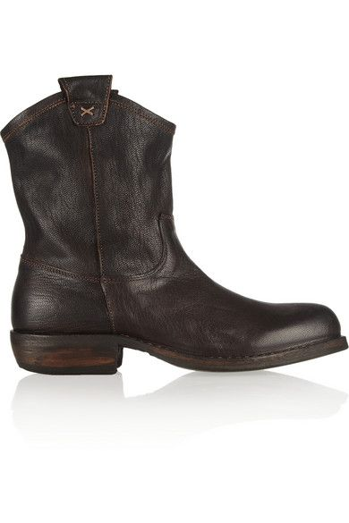 Fiorentini & Baker  Cruna Oiled Leather Ankle Boots
