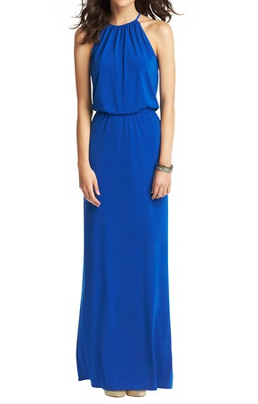 Loft Halter Neck Maxi Dress