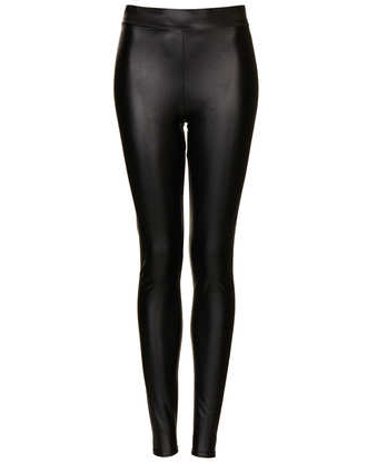 Topshop Textured Leather Look Leggings