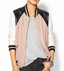 Hive & Honey Varsity Colorblock Jacket