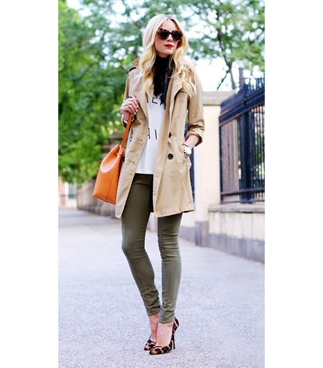 Blair Eadie Bee of Atlantic Pacific  The sheer number of outfits the New York-based blogger has worked her trusty Gap Classic Trench ($128) into is a testament to the coat's ultimate...