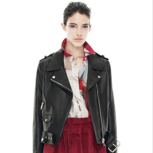Acne Mape Black Leather Jacket