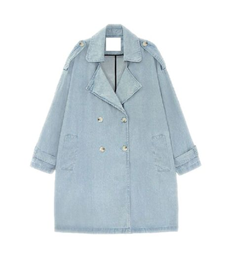 Choies Denim Oversize Trench