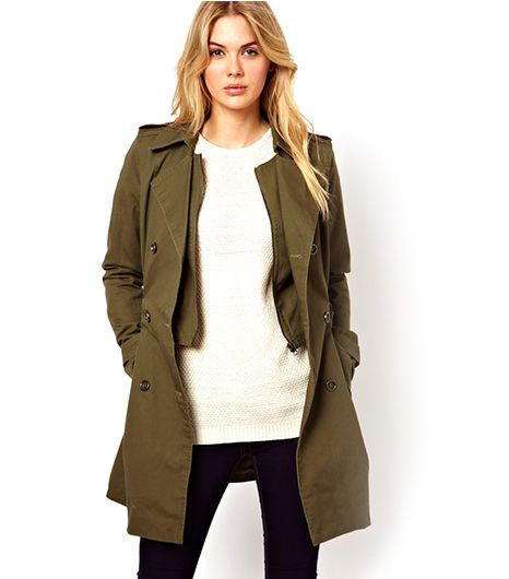ASOS Vila 2 In 1 Trench Coat