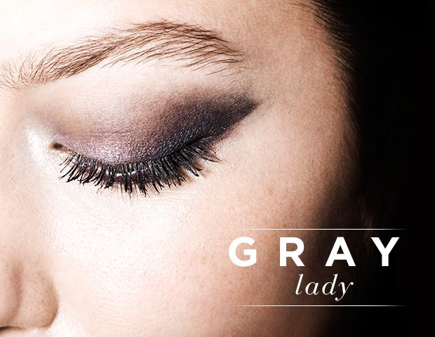 Grey Eye Makeup Takes Center Stage
