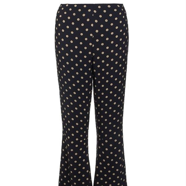 Samuji  Polka Dot Flared Liza Trousers