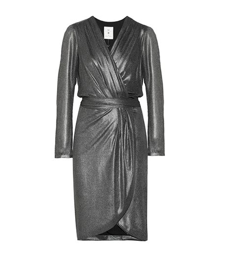 Day Birger Et Mikkelsen Day Birger Et Mikkelsen Metallic Chiffon Wrap Dress