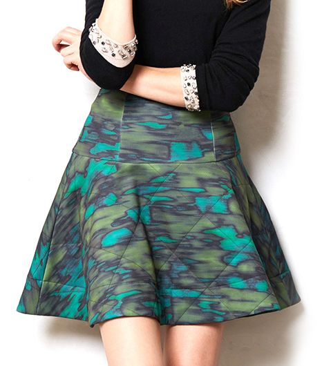 Anthropologie Anthropologie Quilted Camo Skirt