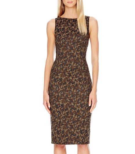 Michael Kors  Michael Kors Camouflage-Jacquard Fitted Dress