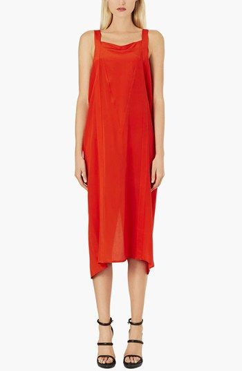 Topshop Boutique  Boxy Silk Slip Dress