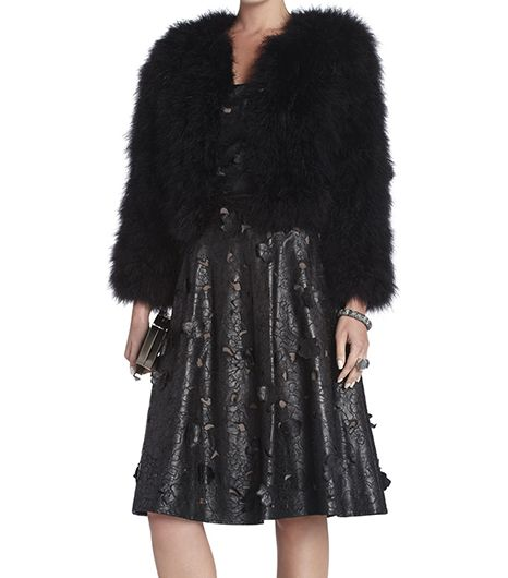 BCBG  BCBG Margaret Marabou Feather Jacket