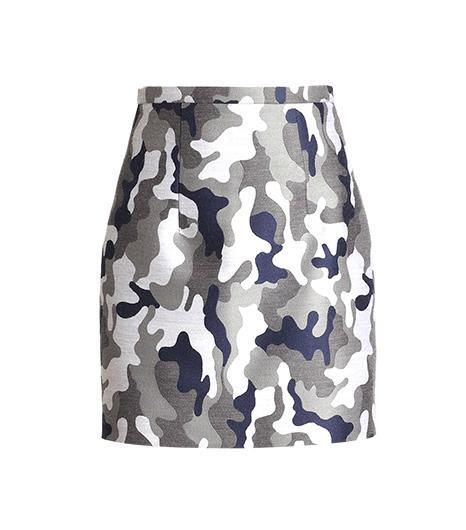 Christopher Kane Christopher Kane Camo Wool Mini Skirt