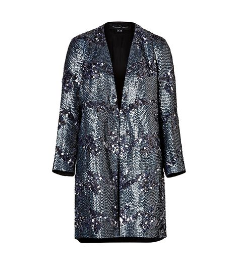 Theyskens' Theory  Silk Sequined Coat