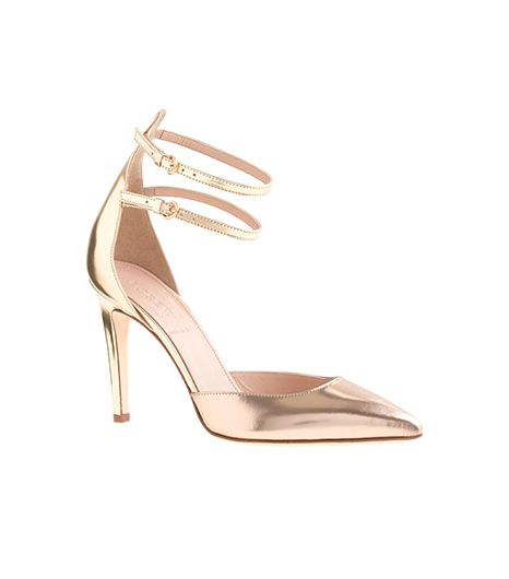 J. Crew  Strappy Mirror Metallic Pumps