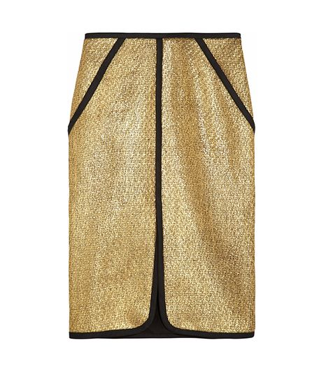 Jonathhan Simkhai  Metallic Bouclé Pencil Skirt