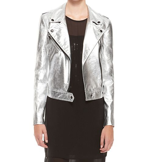 DKNY  Cropped Asymmetric Moto Jacket