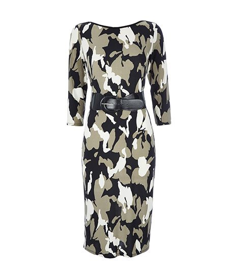 Wallis  Wallis Camouflage Belted Midi Dress