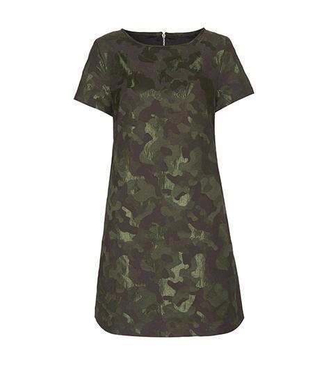 Topshop  Topshop Camo Jaquard A Line Dress
