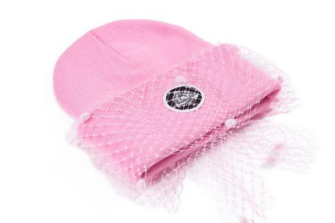 Silver Spoon Attire Mesh Bow Beanie