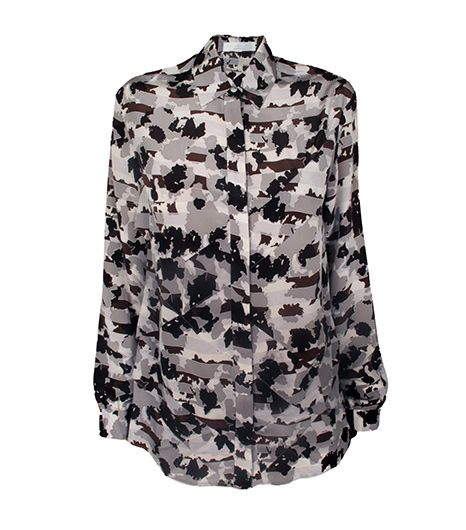 Thakoon Addition Thakoon Addition Ruffle Camo Blouse
