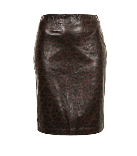 Topshop Leopard Print Pencil Skirt