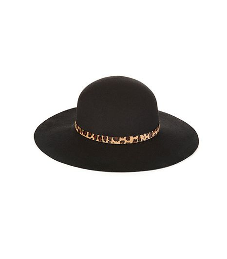Whistles Leopard Felt Floppy Hat