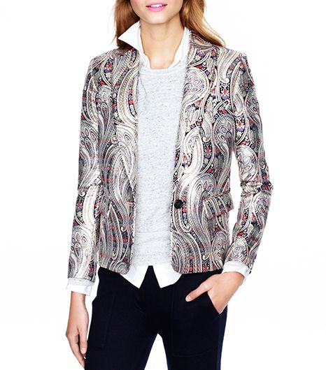 J.Crew  J.Crew Collection Rylan Blazer in Gilded Paisley Jacquard