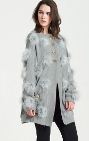 House of Holland  Marabou Cardigan
