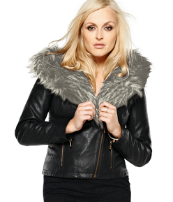 Fearne Cotton for Very.co.uk  Fur Trim PU Jacket