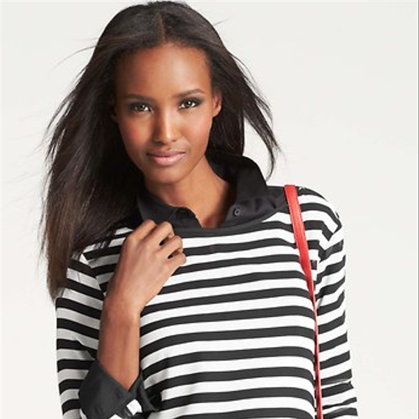 Ann Taylor  Striped Long Sleeve Tee