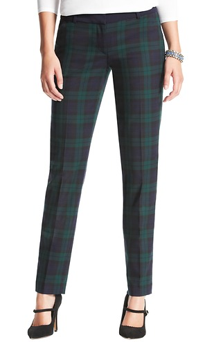 Loft Marisa Plaid Ankle Pants