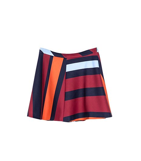 Zara  Striped Mini Skirt