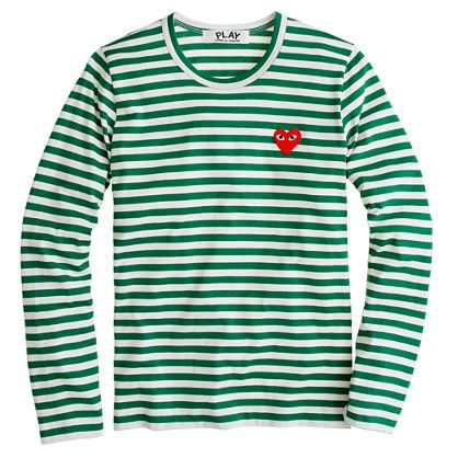 Play Comme Des Garcons  Stripe Heart Tee