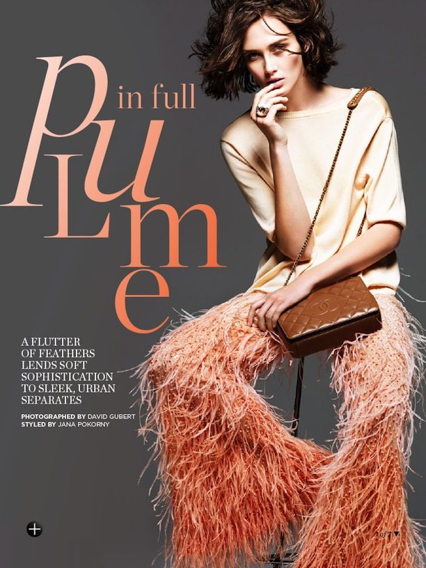 Gorgeous Feathered Separates From The Pages Of Marie Claire Australia