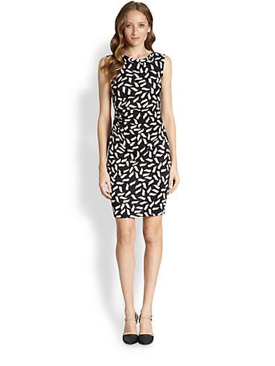 Diane von Furstenberg  Glasmary Silk Cowlneck Sheath Dress