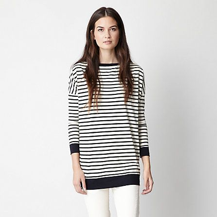 Steven Alan  Charlie Striped Tunic Tee