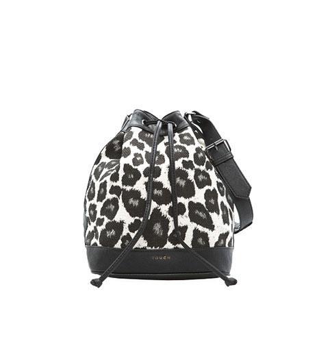 Mango Touch  Mango Touch Leopard Print Bucket Bag