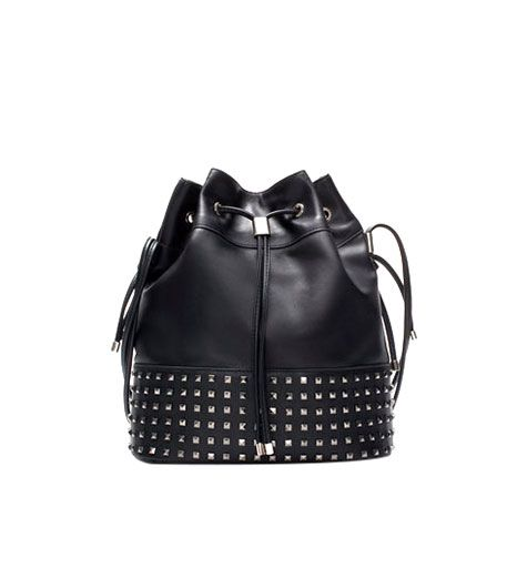 Zara Zara Bucket Bag with Metal Detailing