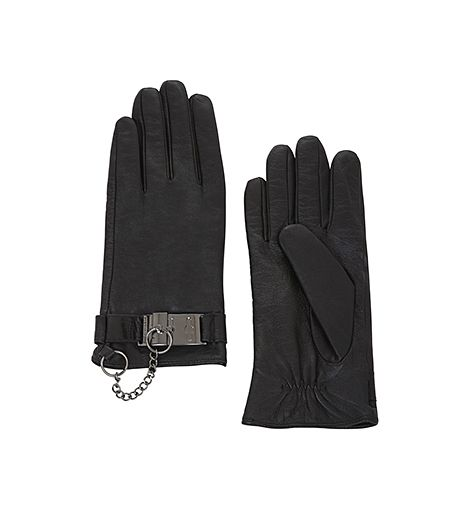 BCBG  BCBG Toggle Cuff Leather Gloves