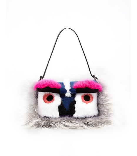 Fendi  Fendi Baguette Fur Bird Mini Bag