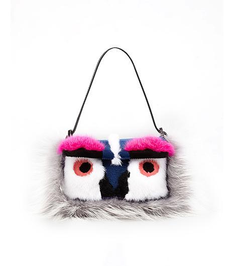 Fendi  Fendi Baguette Fur Bird Mini Bag