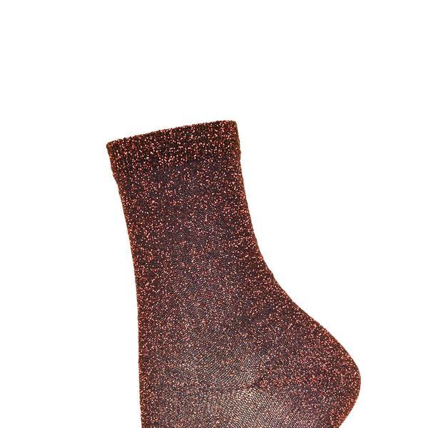 Topshop  Bronze Fine Glitter Ankle Socks