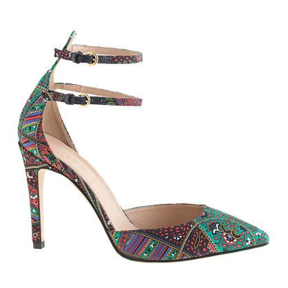 J.Crew  Collection Falsetto Silk Printed Pumps
