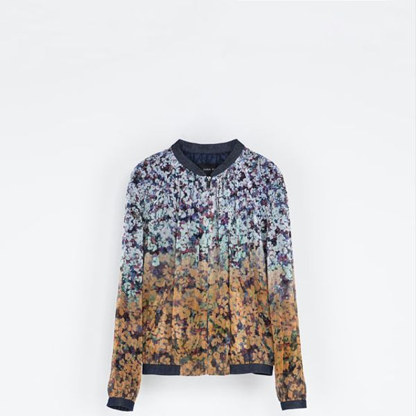 Zara  Combined Floral Jacket