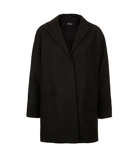 Topshop Popper Front Boyfriend Coat