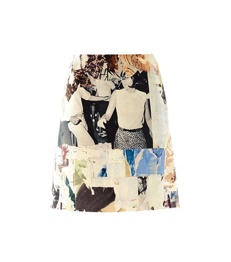 Carven Collage Print A-Line Skirt ($488)